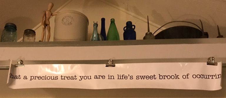 """""""What a precious treat you are in life's sweet brook of occurring"""""""