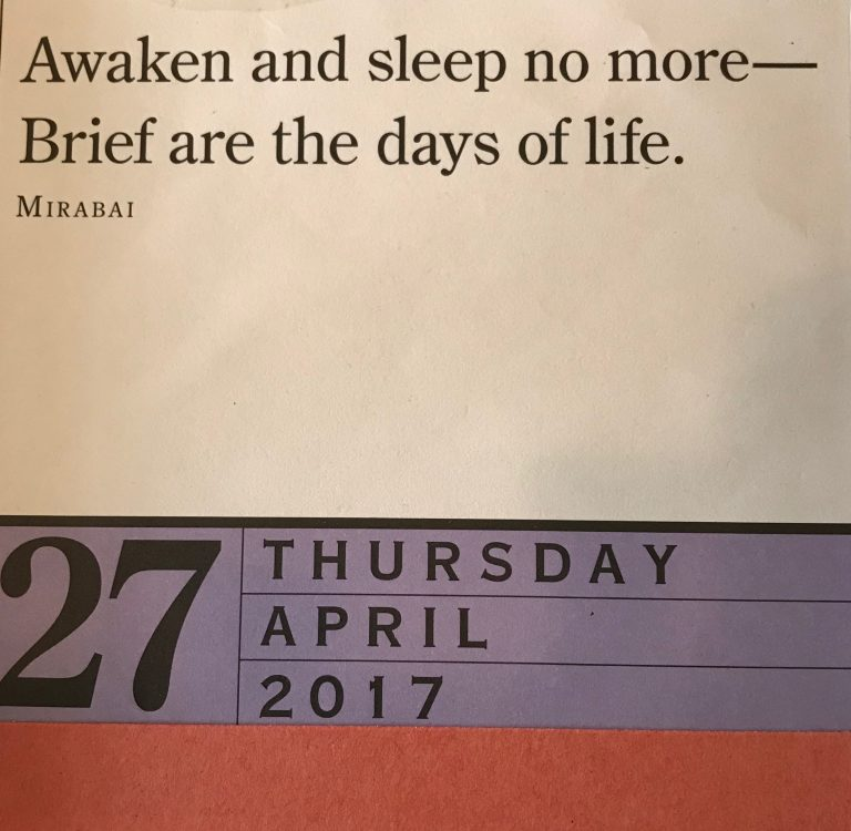 Zen Calendar - Rich's birthday