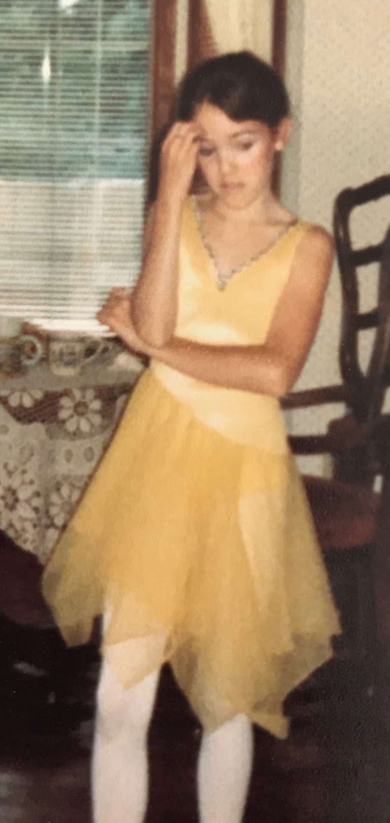 Allison in dance costume