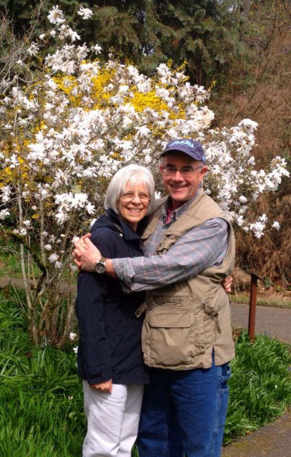 Susan & Rich in Lithia Park, Ashland