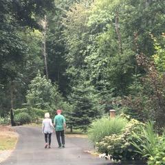 Susan & Rich - walking down the driveway